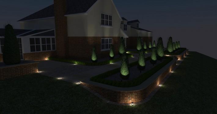 Landscape lighting design brackley landscaping